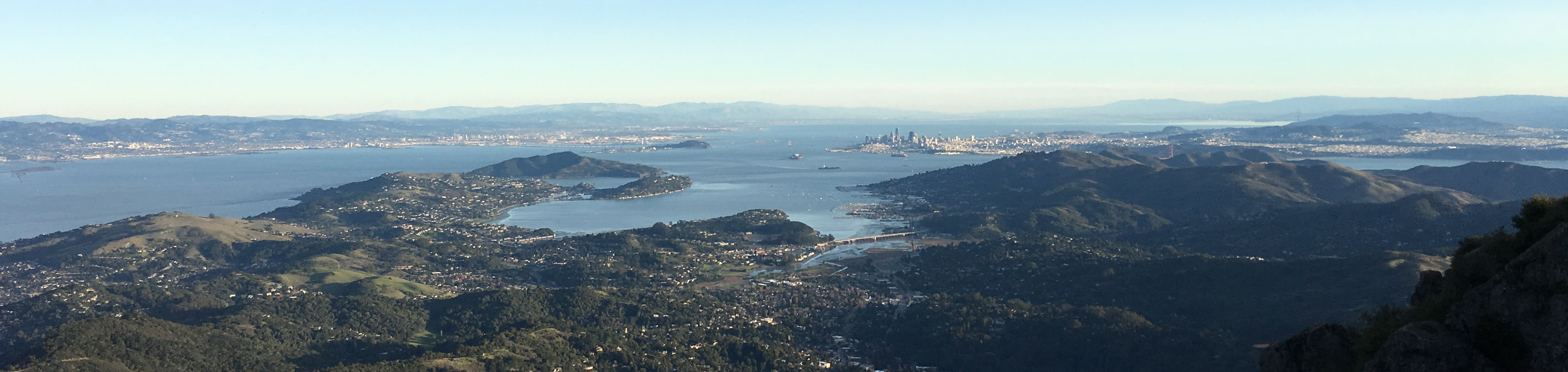 Photo of the Bay from the north on top of Mount Tamalpais. Photo courtesy of Jim Harris via Unsplash.