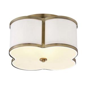 Trade Winds Quatrefoil Ceiling Light in Natural Brass