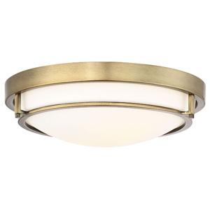 Trade Winds Felton 2-Light Ceiling Light in Natural Brass
