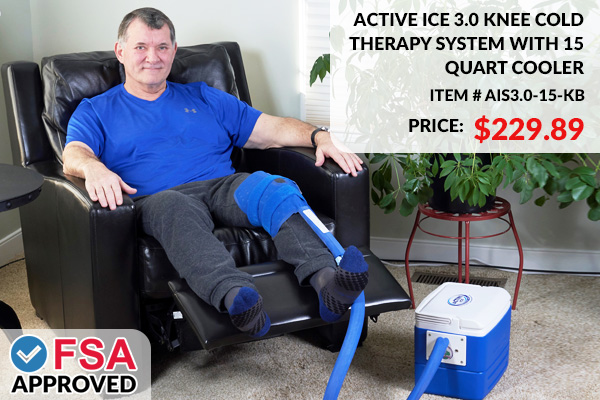Polar Active Ice 3.0 Knee Cold Therapy System With 15 Quart Cooler