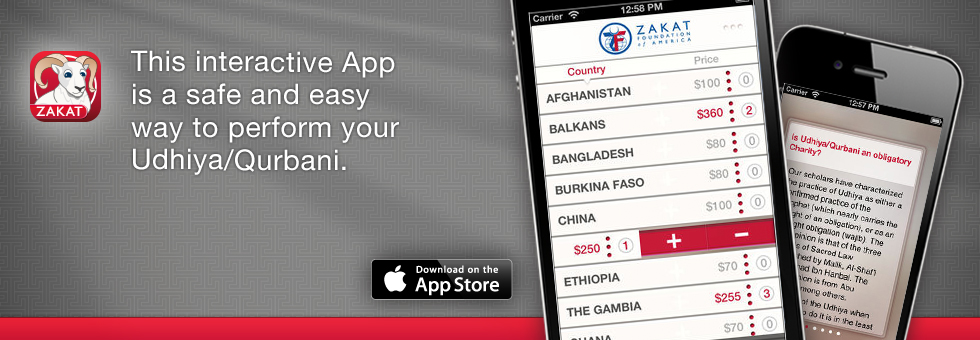 Zakat Foundation of America - Udhiya App