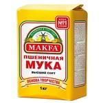 Мука Makfa пшеничная высший сорт 1кг - купить, цены на Makro - фото 1