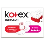 Gigienik prokladkalar Kotex Ultra Soft Super 5 tomchi 8 dona