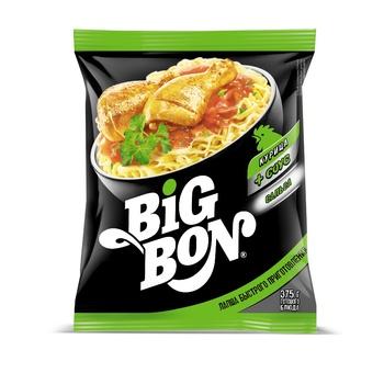 Лапша Big Bon курица сальса быстрого приготовления 75г - купить, цены на Makro - фото 2