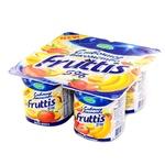 Qovun-mango-banan-qulupnayli shirin qaymoqli Fruttis yogurt mahsuloti 5% 115 gr