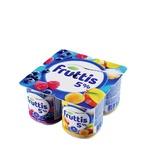 Malina-chernika o`rik-mangoli shirin qaymoqli Fruttis yogurt mahsuloti 5% 115 gr