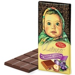 Шоколад Красный Октябрь Алёнка с фундуком и изюмом 100г