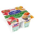 Йогурт Alpenland клубника персик-маракуйя 0,3% 95г
