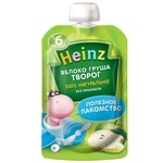 Пюре Heinz яблоко-груша-творог 90г