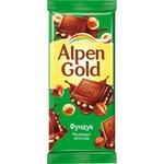 Шоколад Alpen Gold молочный c фундуком 90г