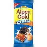 Шоколад Alpen Gold с орео и арахисовой пасты 95г