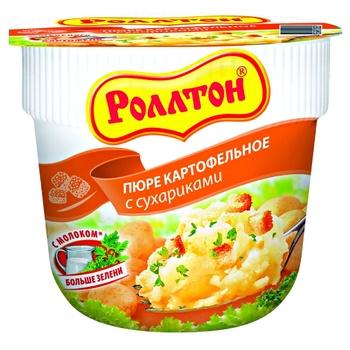 Картофельное пюре Роллтон с сухариками - купить, цены на Makro - фото 1