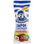 Qulupnayli glazurlangan Простоквашино tvorogli siroki 20% 40 gr