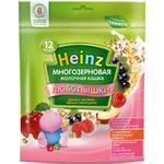 Каша Heinz Любопышки молочная многозерновая яблоко-малина-черная смородина 200г