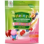 Каша Heinz Любопышки йогуртная многозерновая слива-яблоко-малина-черника 200г