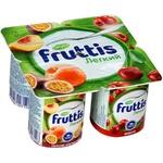 Shaftoli-marakuya-olchali Fruttis yengil yogurt mahsuloti 0,1% 110 gr