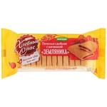 Печенье Хлебный Cпас сдобное с начинкой Земляника 200г