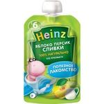 Пюре Heinz яблоко персик сливки 90г