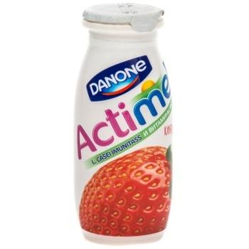 Кисломолочный напиток Actimel клубника 1,5% 100г - купить, цены на Makro - фото 2
