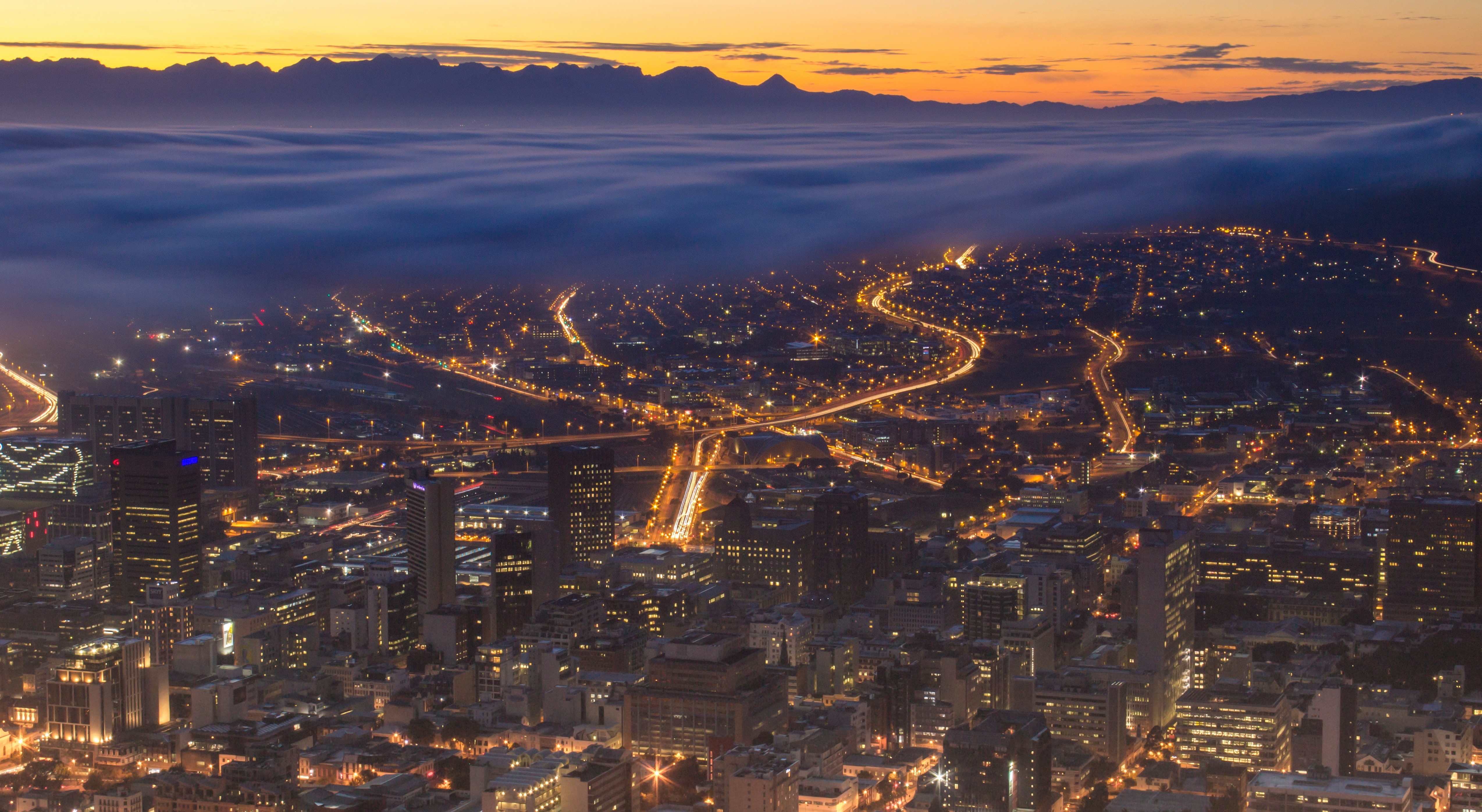 Cape Town, South Africa. Approximately 90% of the global urban shift will happen in Africa and Asia.