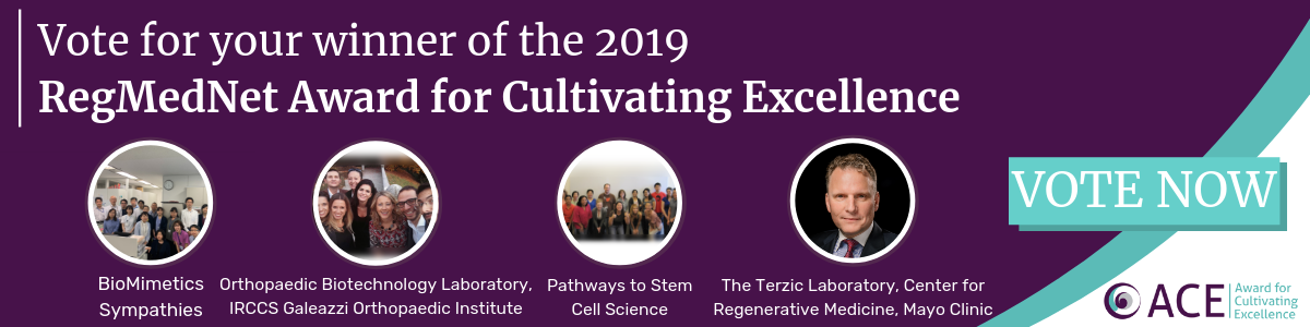 RegMedNet Award for Cultivating Excellence 2019: Voting now open
