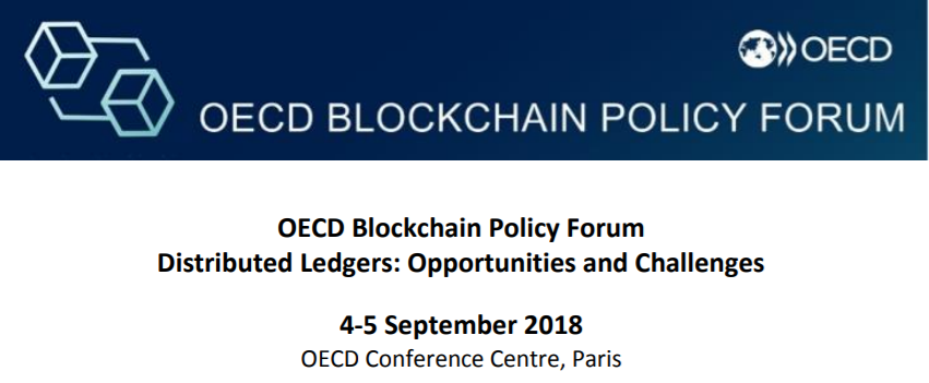 OECD Blockchain Policy Forum Agenda, 4-5 September 2018