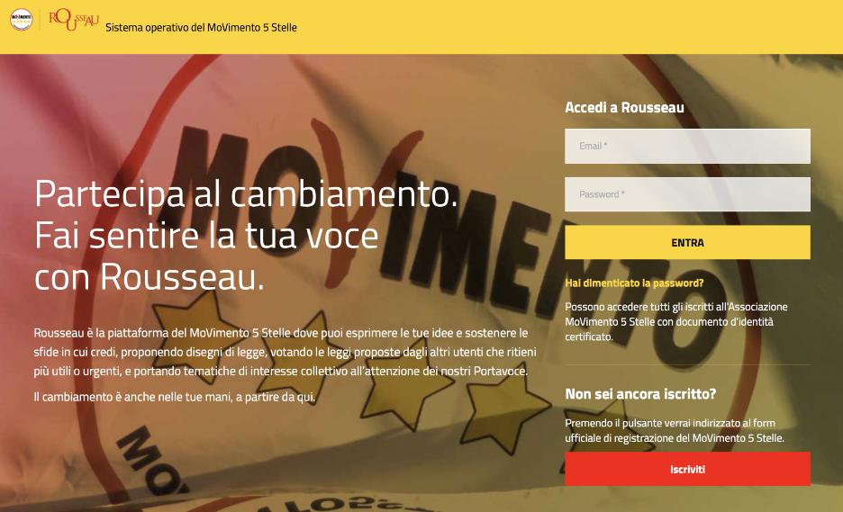Five Star Movement Voting Portal