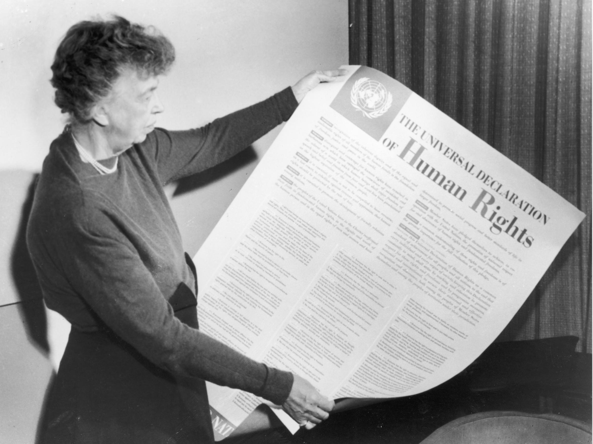 Elenor  Roosevelt and the United Nations Universal Declaration of Human Rights