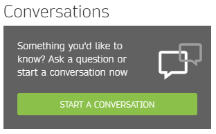 Conversations button