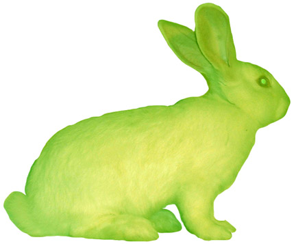 GFP bunny, by Edoardo Kac