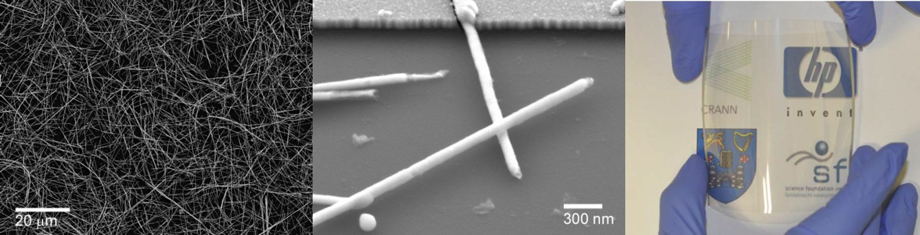 Nanowire networks for flexible transparent conductors