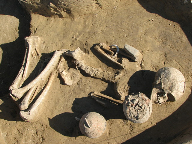 Middle Neolithic grave from Szederkény (Hungary).