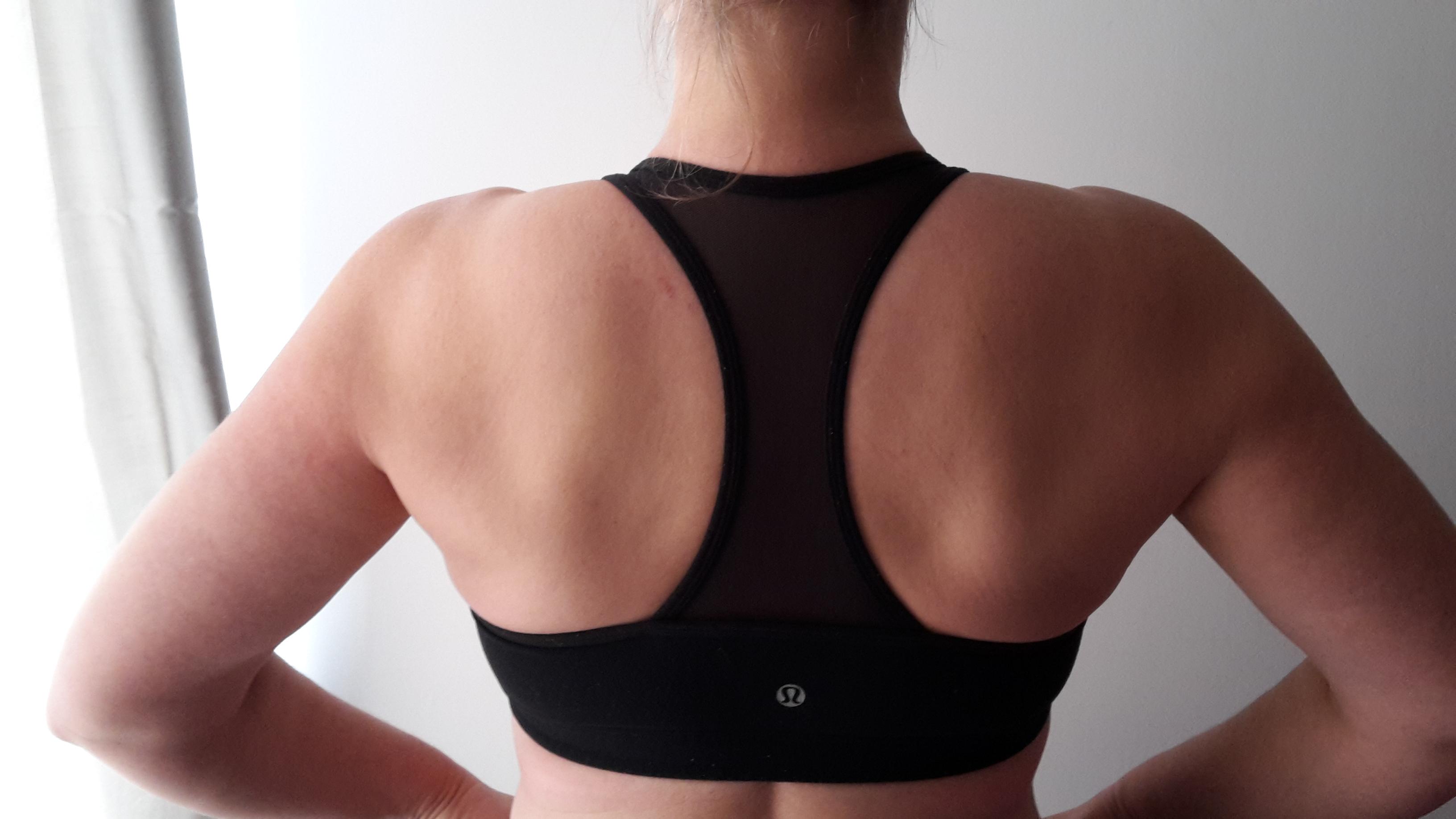 Racer back style sports bra