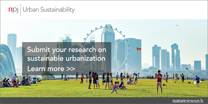 npj Urban Sustainability | Now open for submissions