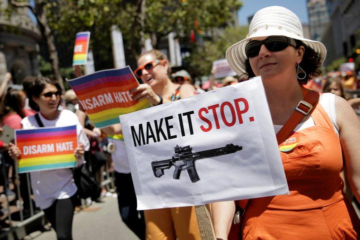 Anti-gun demonstrators
