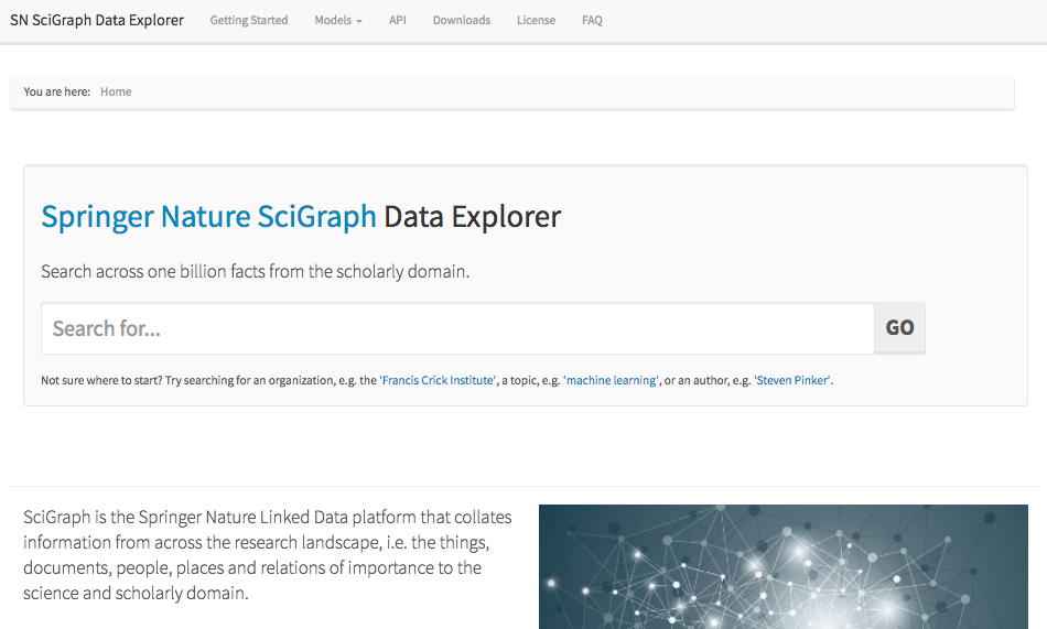 SciGraph Data Explorer