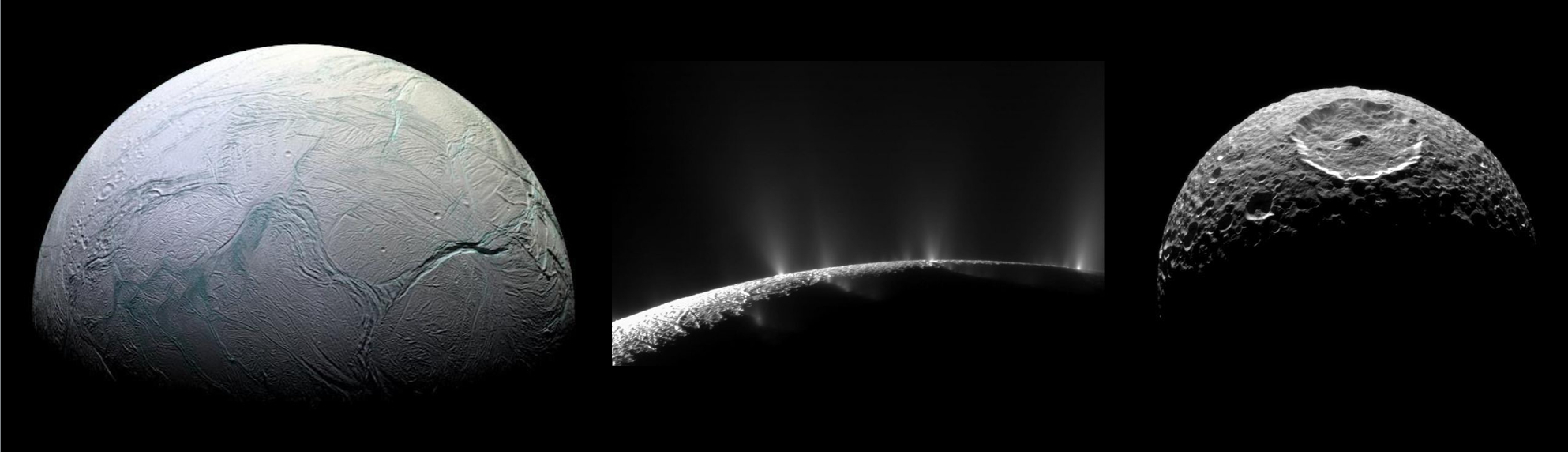 Deciphering the history of Enceladus and its sibling moons of Saturn