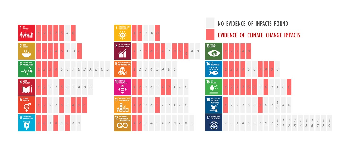 Figure 1 Impacts of climate change on the achievement of the SDGs.