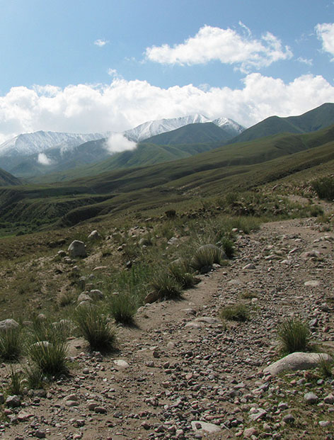 High elevation herding tracks, Kyrgyzstan