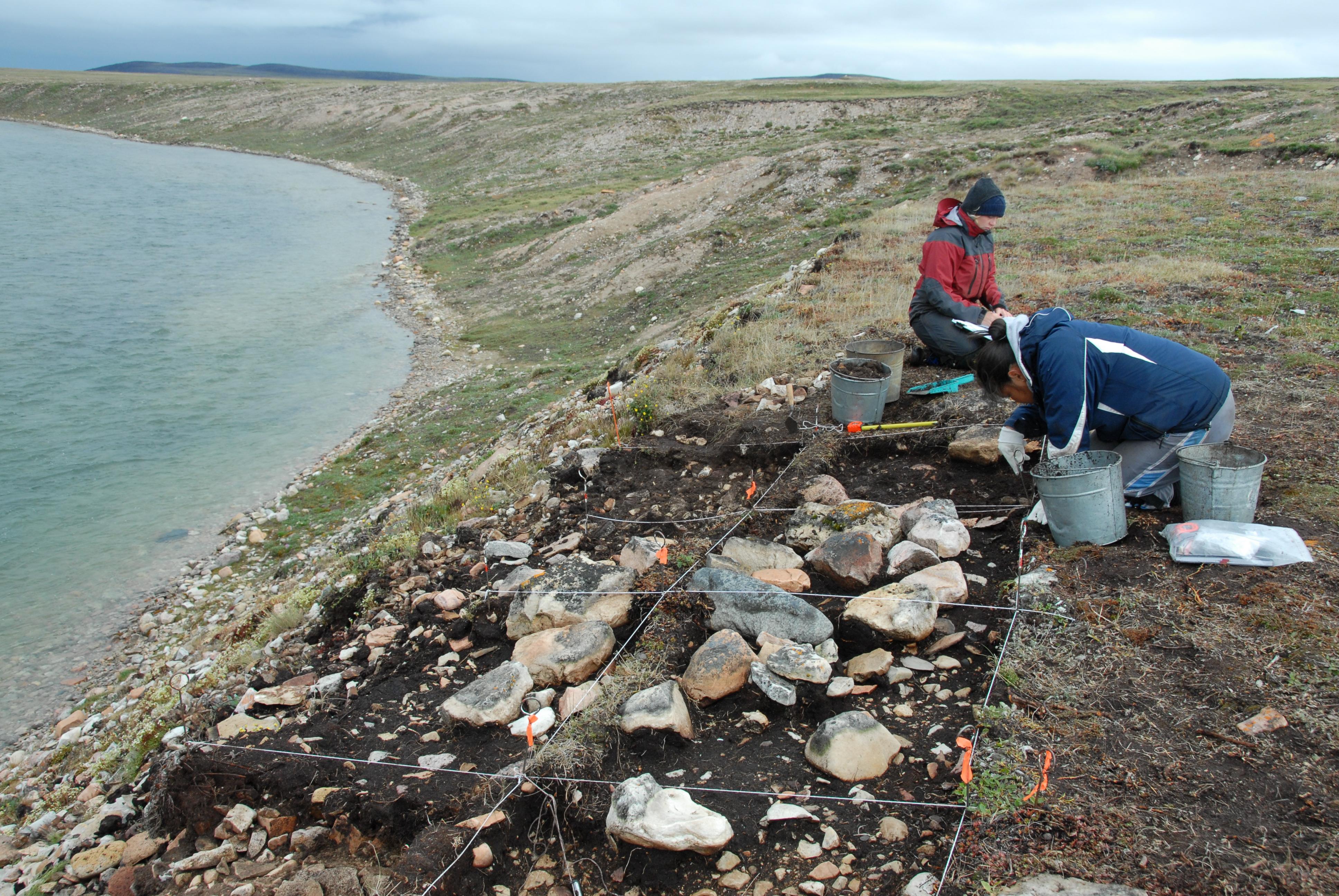 Excavation site in Canada
