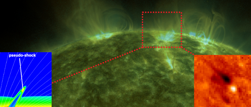 A pseudo-shock above a sunspot