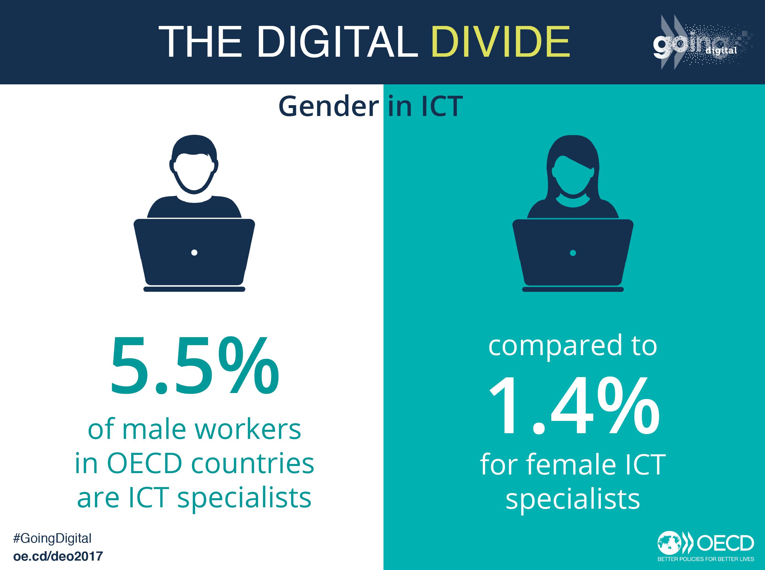 Gender divide in ICT