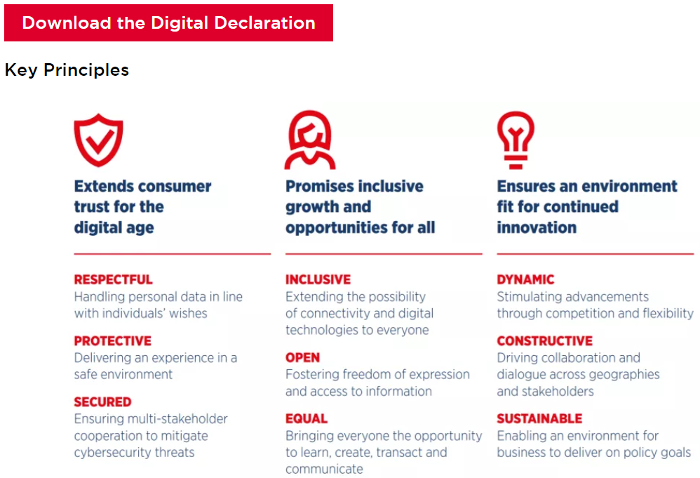 GSMA Digital Declaration