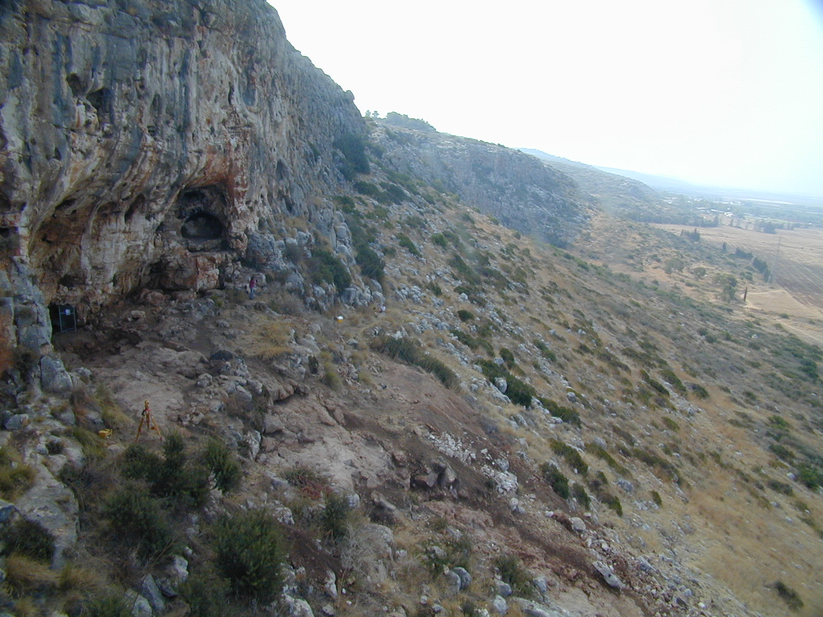 Misliya cave, view from the north