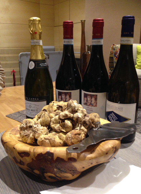 Tartufo Bianco d'Alba and local Piedmont wines