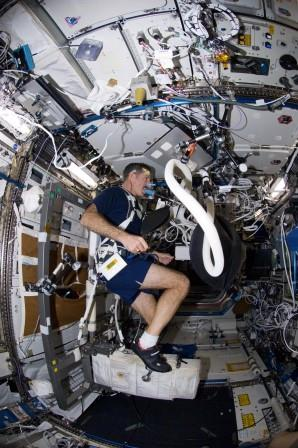 Excercising the cardiovascular system onboard the ISS