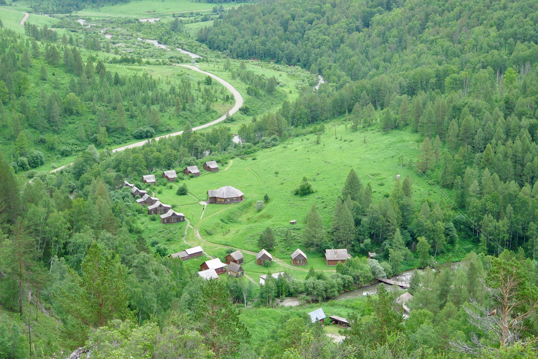 View of Denisova basecamp