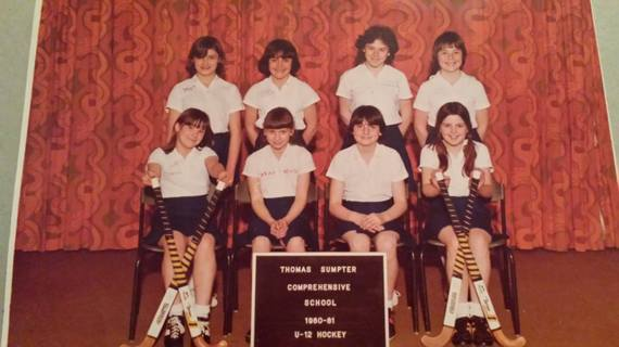 Sarah in the U-12 Hockey Team - 2nd from left bottom row