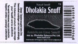 DHOLAKIA SNUFF Trademark Detail | Zauba Corp
