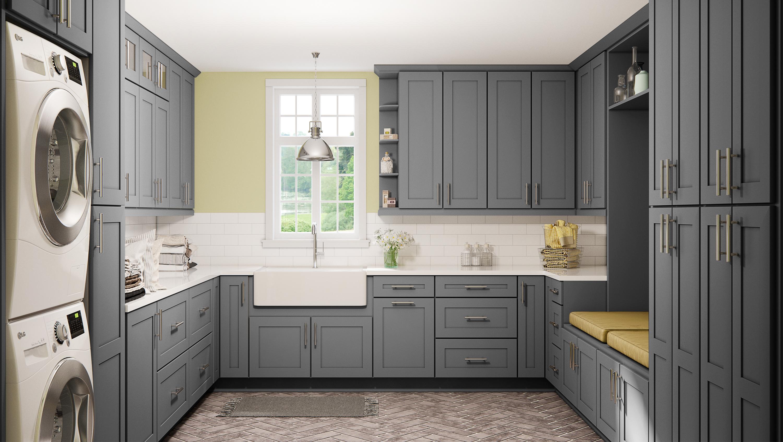 Storm Grey Shaker RTA Kitchen Cabinets
